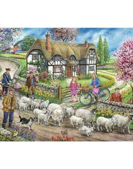 House of Puzzles Daffodil Cottage Jigsaw