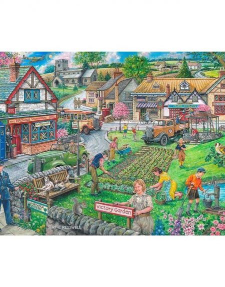 House of Puzzles Wartime Green Jigsaw