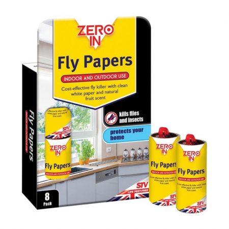 Zero In Fly Paper 8 Pack