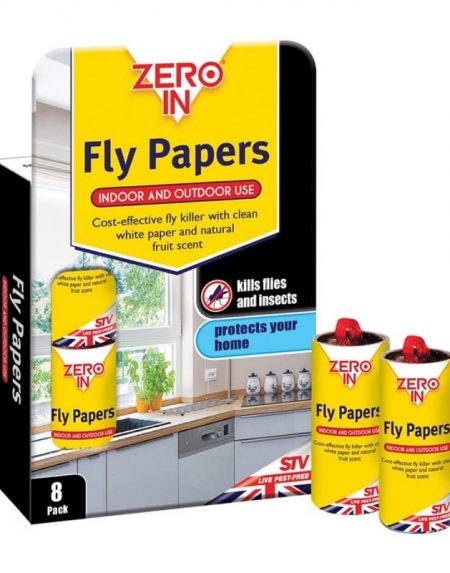 Zero In Fly Paper 8 Pack