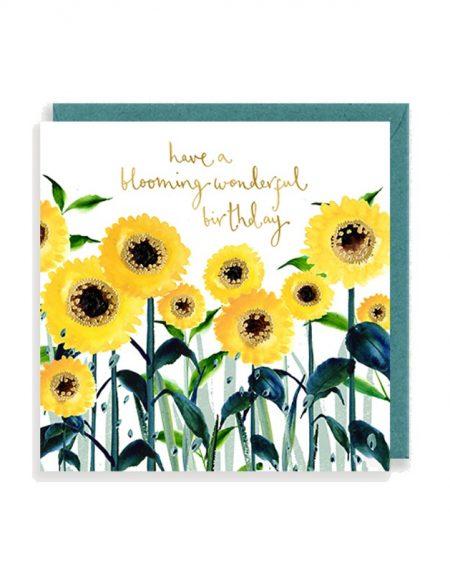 Birthday Sunflowers Louise Mulgrew Greetings Card