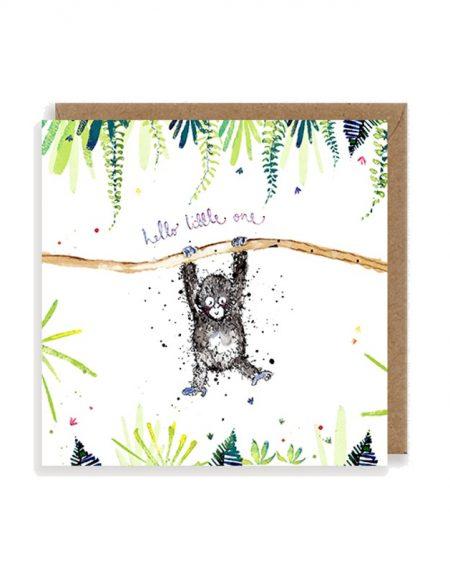 Little One Gorilla Baby Louise Mulgrew Greetings Card