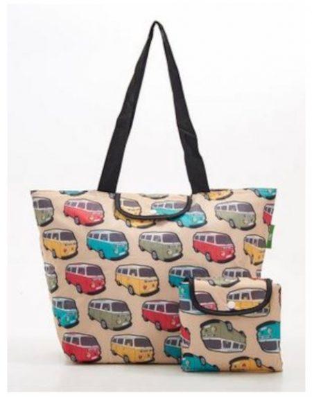 Eco Chic beige campervan large cool bag
