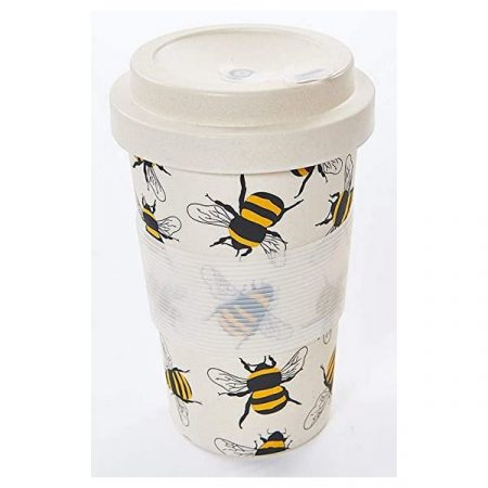Eco Chic neutral bees bamboo cup