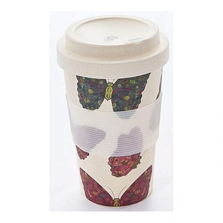 Eco Chic neutral butterfly bamboo cup