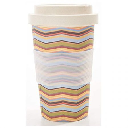Eco Chic neutral zig zag bamboo cup