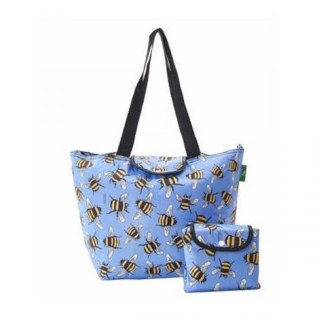 Eco chic blue bees large cool bag