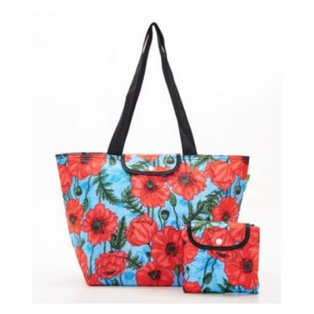 Eco chic blue poppies large cool bag
