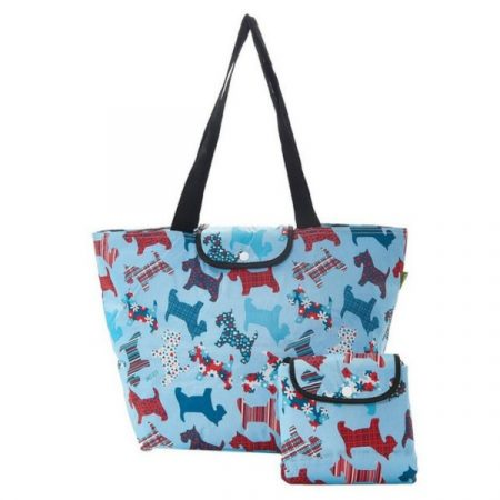 Eco chic blue scotty dogs large cool bag