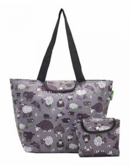 Eco chic grey sheep large cool bag