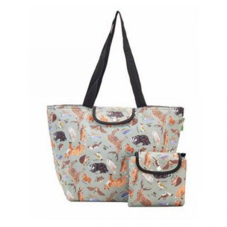 Eco chic olive woodland large cool bag