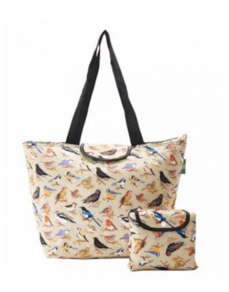 Eco chic wild birds large cool bag