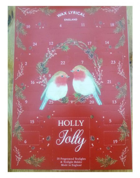 Wax Lyrical Holly Jolly tealight advent calendar