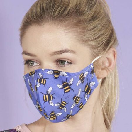 Eco Chic Blue Bee Face Cover