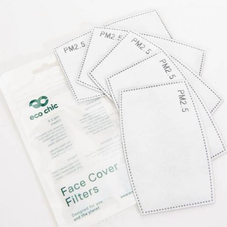 Eco Chic Face Cover 5 Filters Set