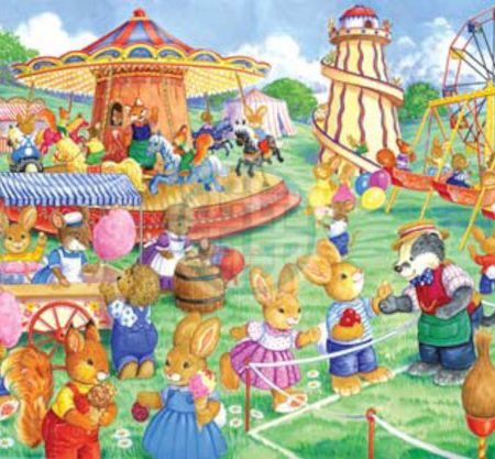 House of Puzzles KidzJigz 80 Collection Funfair Games