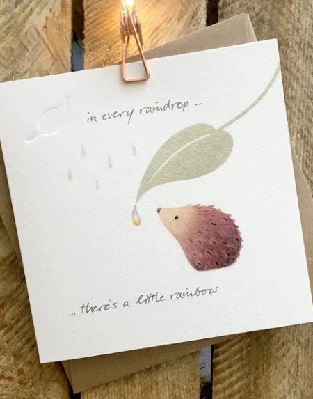 In every raindrop greeting card by Ginger Betty