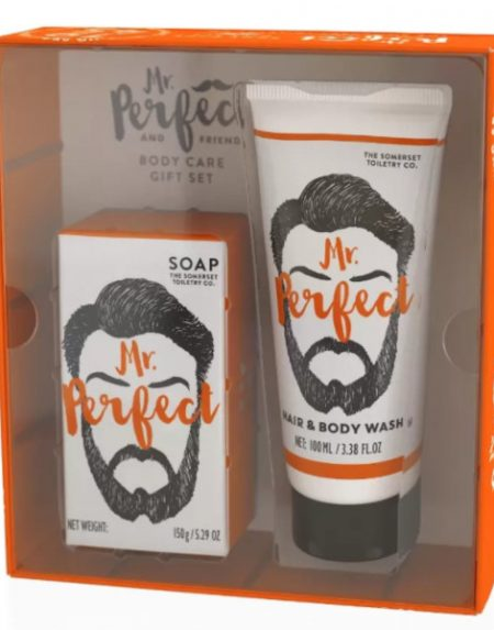 A Mr Perfect Gift Set will clean up any man's act with the perfect combination of Luxury Soap and Hair and Body Wash.