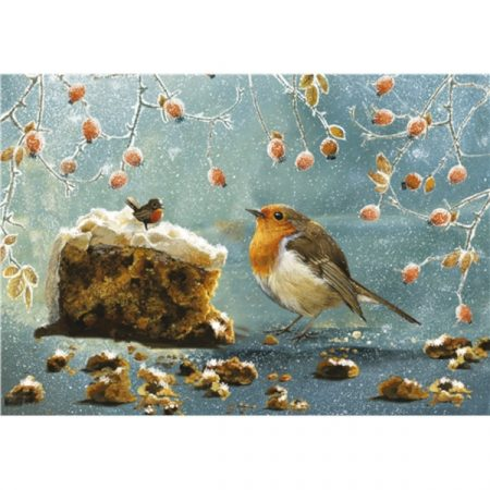 Otter House 500 Piece Jigsaw - Christmas Robin