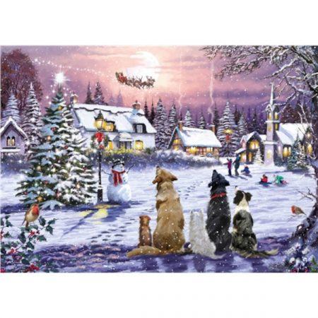 Otter House JIGSAW RECTANGULAR - CHRISTMAS EVE