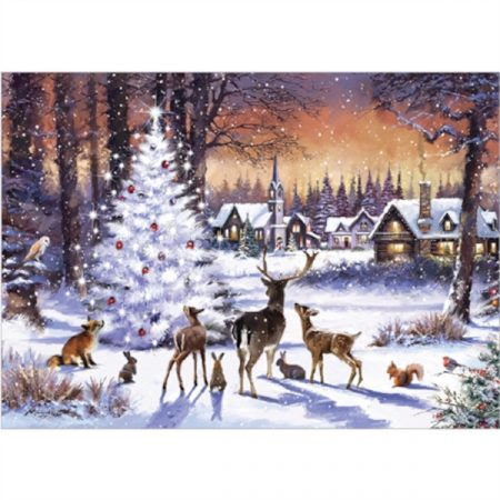 Otter House JIGSAW RECTANGULAR - CHRISTMAS GATHERING