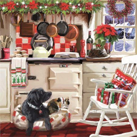 Otter House JIGSAW SQUARE - CHRISTMAS KITCHEN