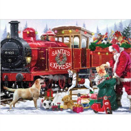 Otter House Rectangular Jigsaw - Santa's Express