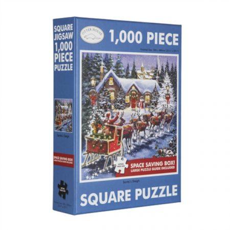 Otter House Square Jigsaw - Santa's Sleigh