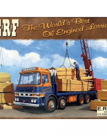 The Original Metal Sign Company ERF oil engined lorries