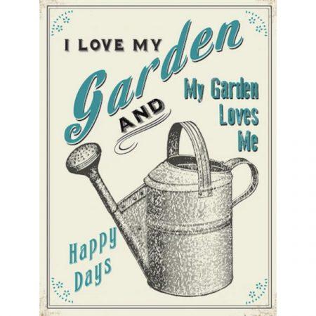 The Original Metal Sign Company I love my garden