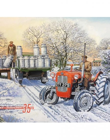 The Original Metal Sign Company MF35 Winter Scene