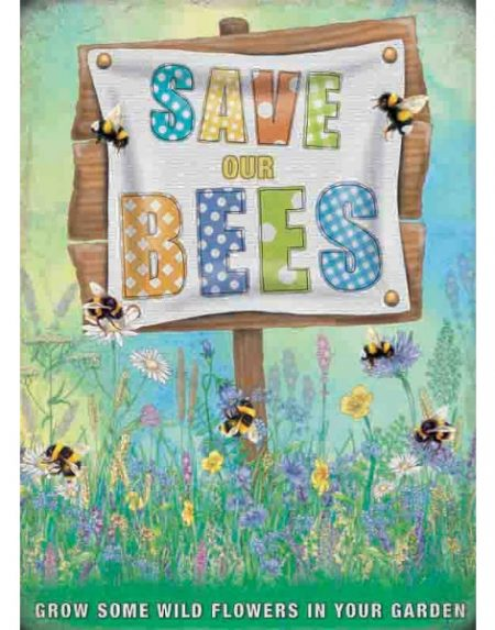 The Original Metal Sign Company Save our bees
