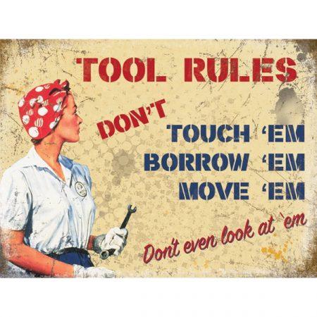 The Original Metal Sign Company Tool Rules