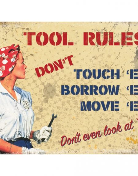 The Original Metal Sign Company Tool Rules
