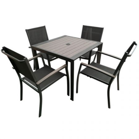 Milano 4 seat set with sling armchairs