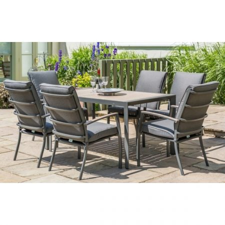Milano 6 seat set with highback armchairs 3.0m parasol