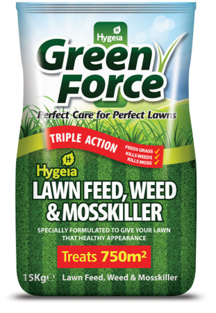 Hygeia Green Force 4in1 Lawn Feed Weed & Moss Killer