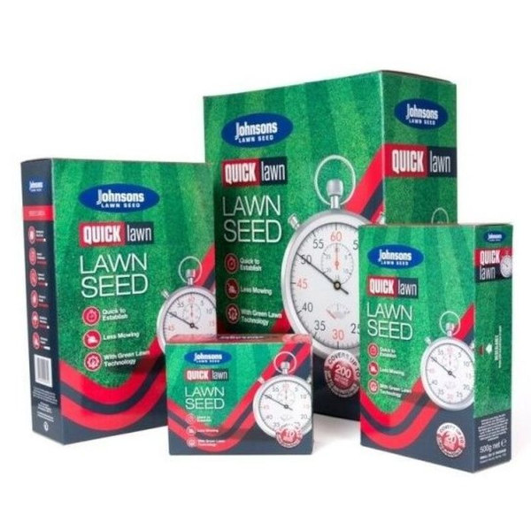 Johnsons Quick Lawn Seed sizes