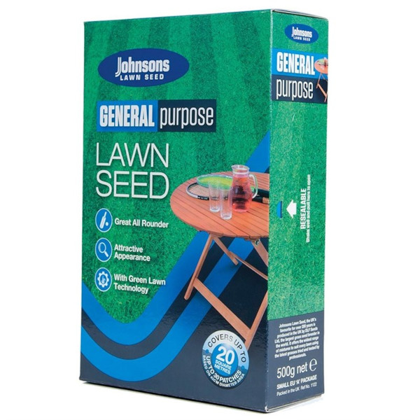 Johnsons General Lawn Seed 500g