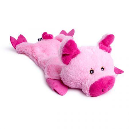 Petface Farmyard Buddies Crinkle Flat Pig