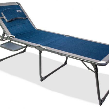 Quest Ragley Pro Blue Lounger with side table